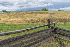 Drewniana bariera przy Antietam miejscem Obrazy Royalty Free