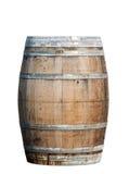 Drewniana baryłka odizolowywająca na białym tle Fotografia Royalty Free