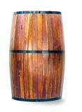 Drewniana baryłka odizolowywająca na bielu Obrazy Stock