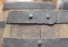 drewniana baryłka Fotografia Royalty Free