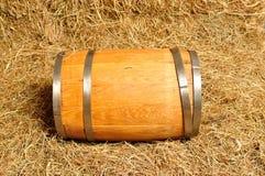 Drewniana baryłka Zdjęcia Royalty Free