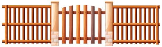Drewniana barykada royalty ilustracja