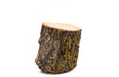 Drewniana bela odizolowywająca Zdjęcia Royalty Free