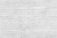 Drewniana biała tekstura na gipsie Obraz Royalty Free