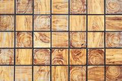 Drewniana blokowa tekstura i tło Dla wewnętrznego de lub powierzchowności Zdjęcie Stock