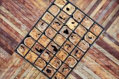 Drewniana blokowa tekstura i tło Dla wewnętrznego de lub powierzchowności Obraz Stock