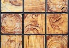 Drewniana blokowa tekstura i tło Dla wewnętrznego de lub powierzchowności Obrazy Stock