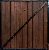 Drewniana brama Obrazy Stock