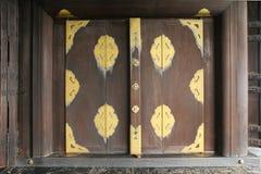 Drewniana brama dom obraz stock