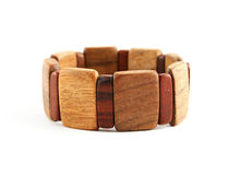 drewniana bransoletka. Zdjęcia Royalty Free