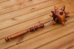 Drewniana buława z łańcuchem Obrazy Royalty Free