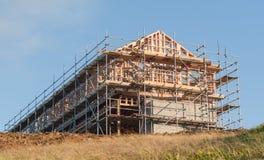 Drewniana budowa intymny dom obrazy royalty free
