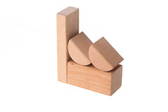 Drewniana ceglana fabryka Zdjęcia Stock