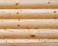 Drewniana cembrująca ściana Zdjęcia Royalty Free