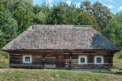drewniana chałupy wioska domowa stara fotografia stock