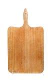 Drewniana chlebowa deska na białym tle Fotografia Royalty Free