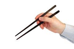 drewniana chopstick ręka Obrazy Stock