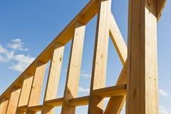 Drewniana ściany rama Fotografia Royalty Free