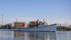 Drewniana Crabbing łódź obrazy royalty free