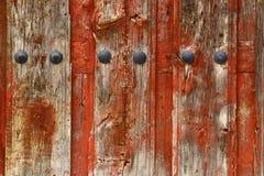 Drewniana czerwonawa drzwiowa tekstura Zdjęcie Stock