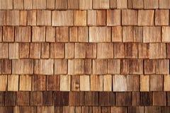 Drewniana dachówkowa tekstura Zdjęcia Stock