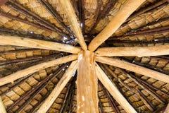 Drewniana dach rama, gonty, dach rama Obrazy Royalty Free