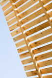 Drewniana dachowa budowa zbudować postęp Domowy constructi zdjęcie royalty free