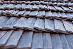 Drewniana dachowa struktura fotografia stock