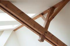 Drewniana dachowa struktura Zdjęcie Royalty Free