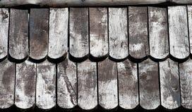 Drewniana Dachowa tekstura Zdjęcia Stock