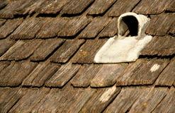 drewniana dachowa tradycyjna wentylacja Obraz Royalty Free