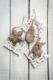Drewniana dekoracja na drewnianym tle Obraz Royalty Free