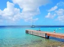 Drewniana desantowa scena na Bonaire w Karaiby Obrazy Royalty Free