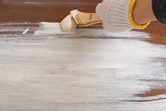 Drewniana deska malująca w białym kolorze Zdjęcia Stock