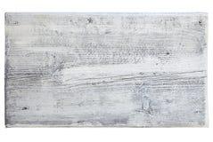 Drewniana deska malujący biel Zdjęcia Royalty Free