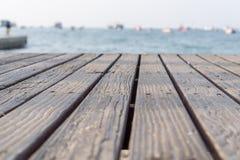 Drewniana deska tło morze obrazy royalty free