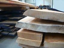 Drewniana deska w fabryce Zdjęcia Stock