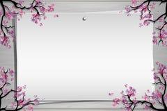 Drewniana deska z fotografią i miejsce dla inskrypci Obrazy Stock