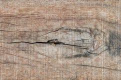 Drewniana deska z gnarl Zdjęcie Royalty Free