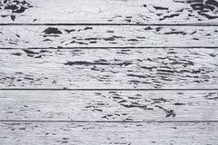 Drewniana deska z starym białym obrazem Zdjęcia Stock
