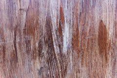 Drewniana deska z wietrzejącym lakierem Obraz Royalty Free