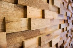 Drewniana deski ściana głęboka pole Zdjęcie Stock