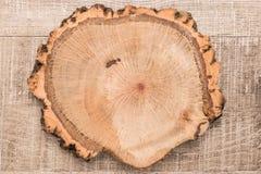 Drewniana deski deska na drewnianym stole Obraz Royalty Free