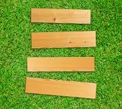 drewniana deskowa trawa Obrazy Royalty Free