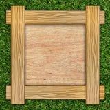 drewniana deskowa trawa Zdjęcie Royalty Free