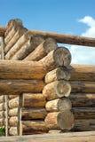 Drewniana domowa budowa od bel Zdjęcie Stock