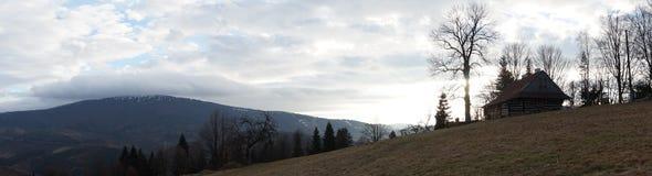 Drewniana domowa panorama Obraz Royalty Free