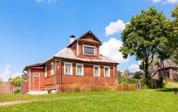 drewniana domowa stara rosyjska wioska Fotografia Royalty Free