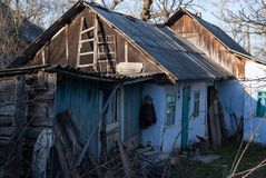 drewniana domowa stara wioska Zdjęcia Stock