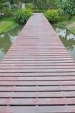 Drewniana droga przemian Zdjęcia Stock